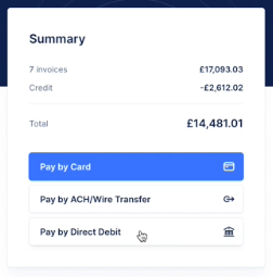 pay by direct debit with GoCardless in Upflow