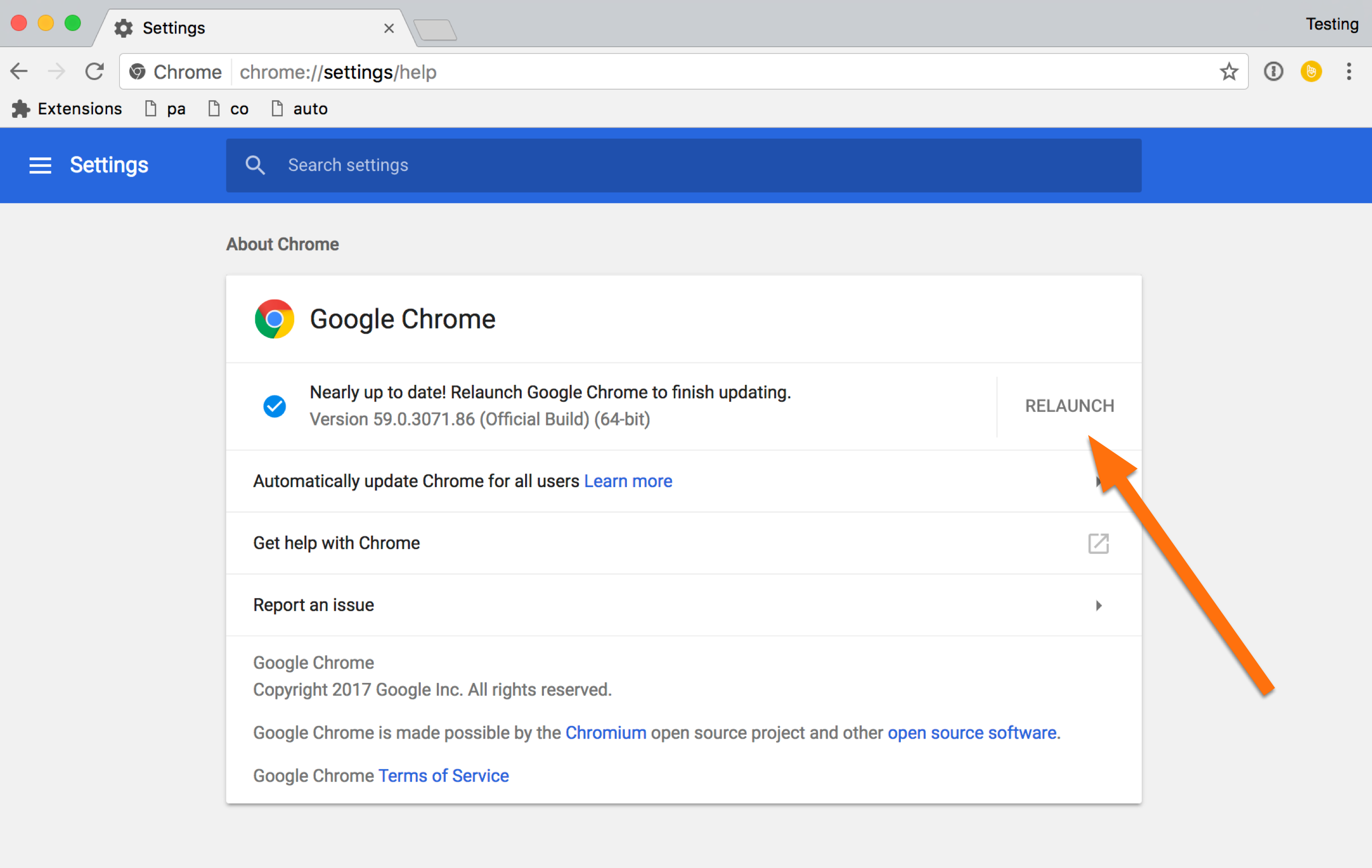 Update the chrome browser lookback support you can double check version after chrome has relaunched ccuart Choice Image