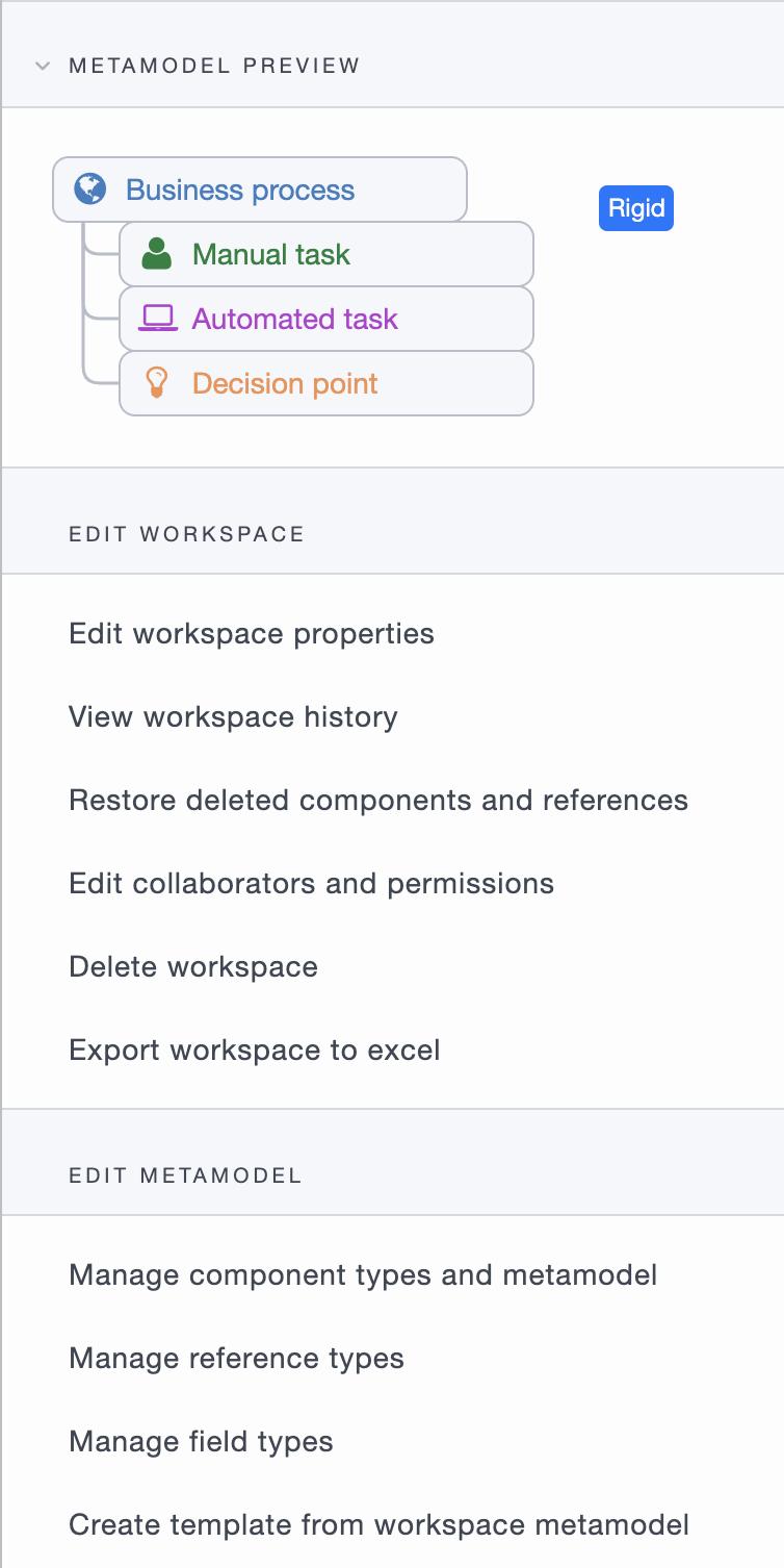 ardoq opening meta model editor