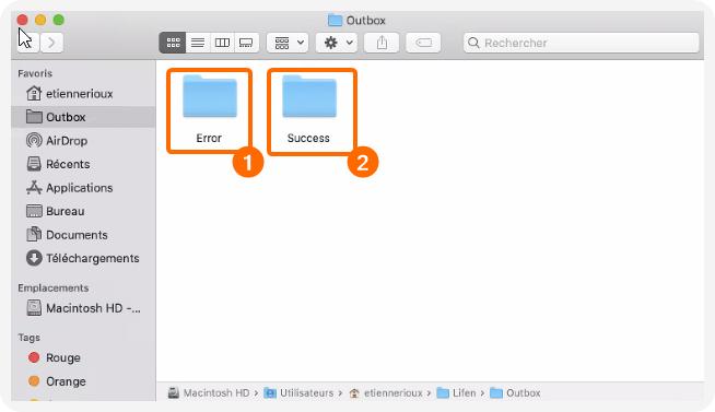 Dossier Outbox sur MAC