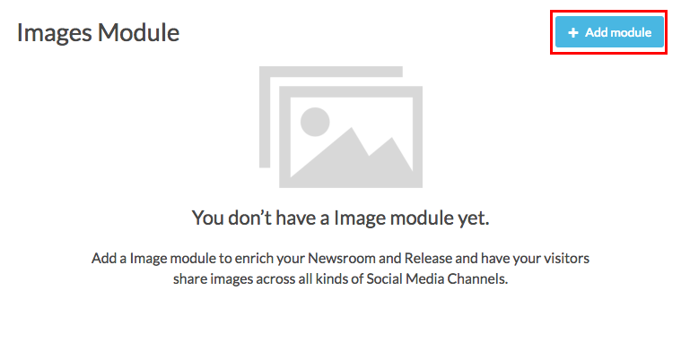 images module add module button highlighted