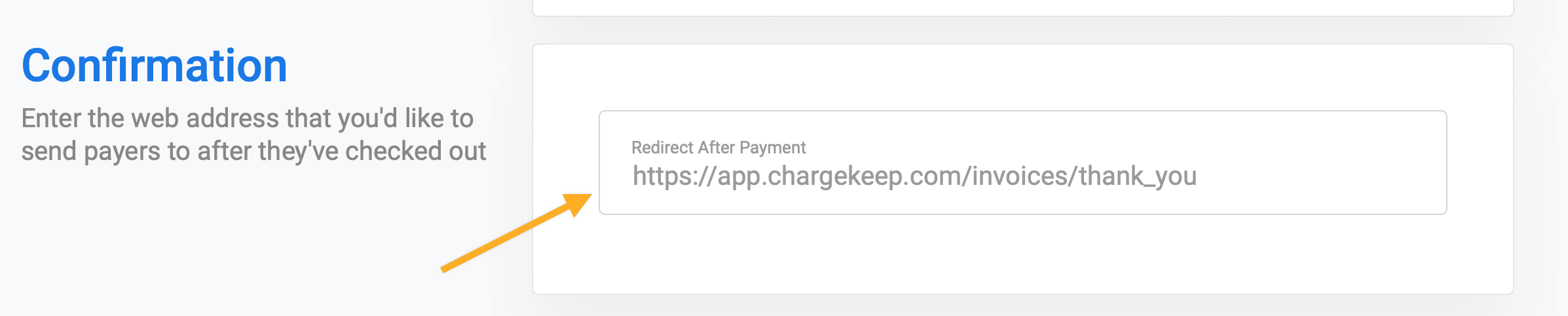 Redirecting users after payment Stripe