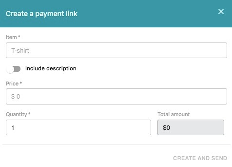 create payment link sirena paypal