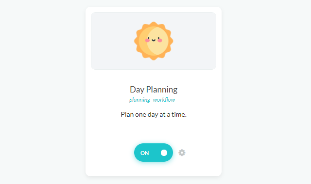 Day Planning strategy