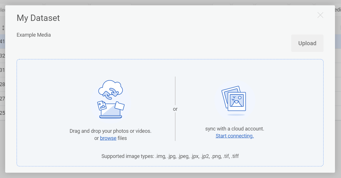 You can drag-and-drop or click browse to add media from your local machine.