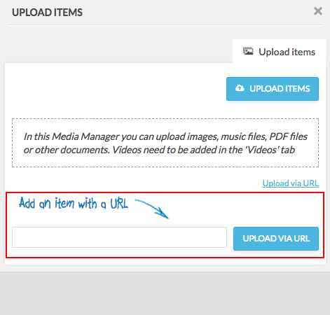 upload items add url manually