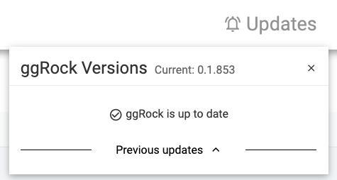 ggRock Versions Current 0.1.863 ggRock is up to date Previous updates