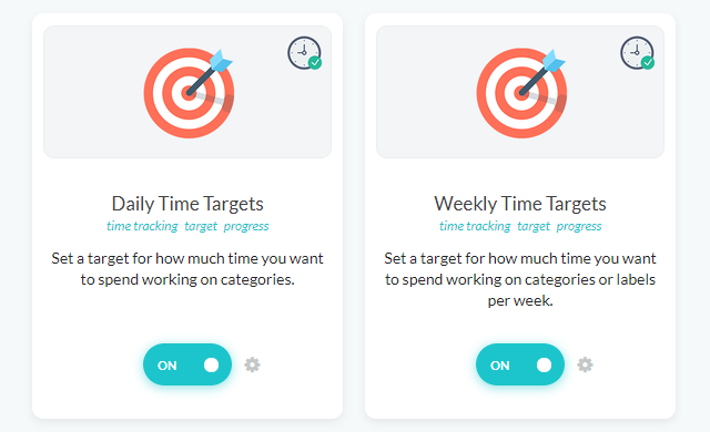 Daily and Weekly Time Target strategies