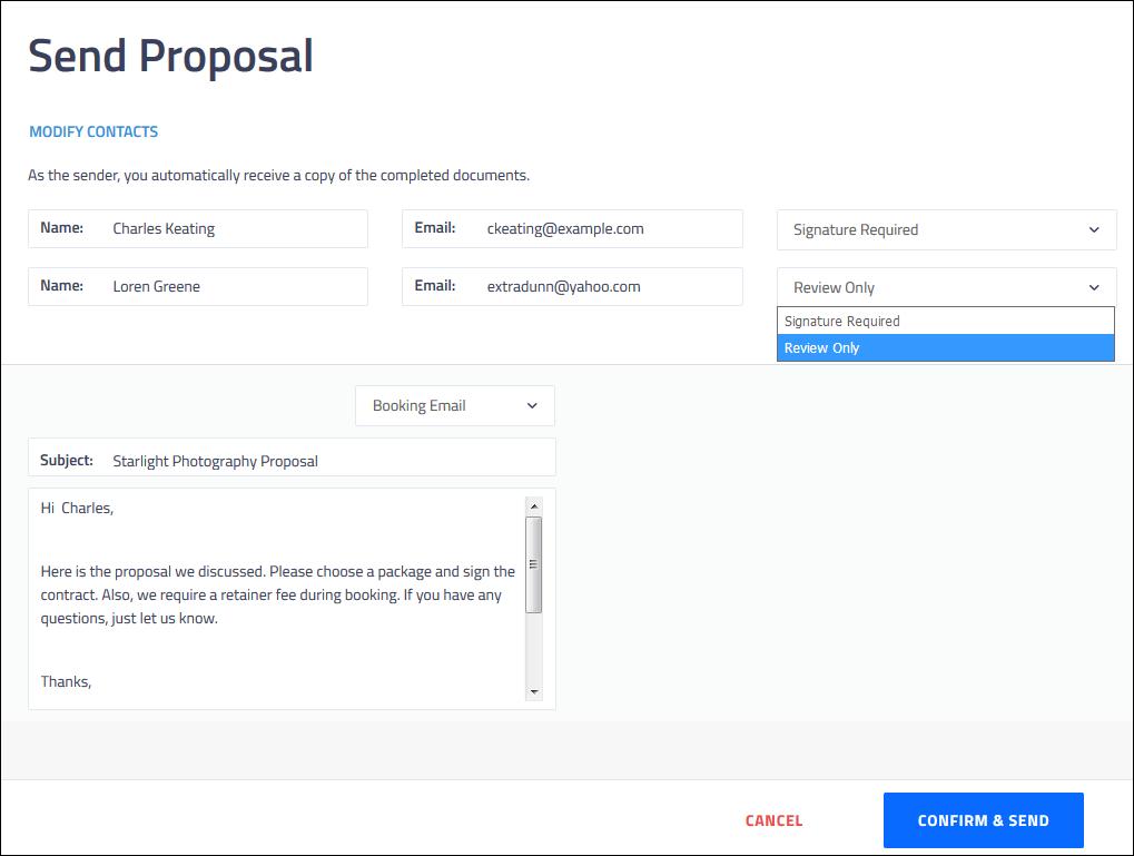 Booking Process Creating A Proposal Shootq Help Center