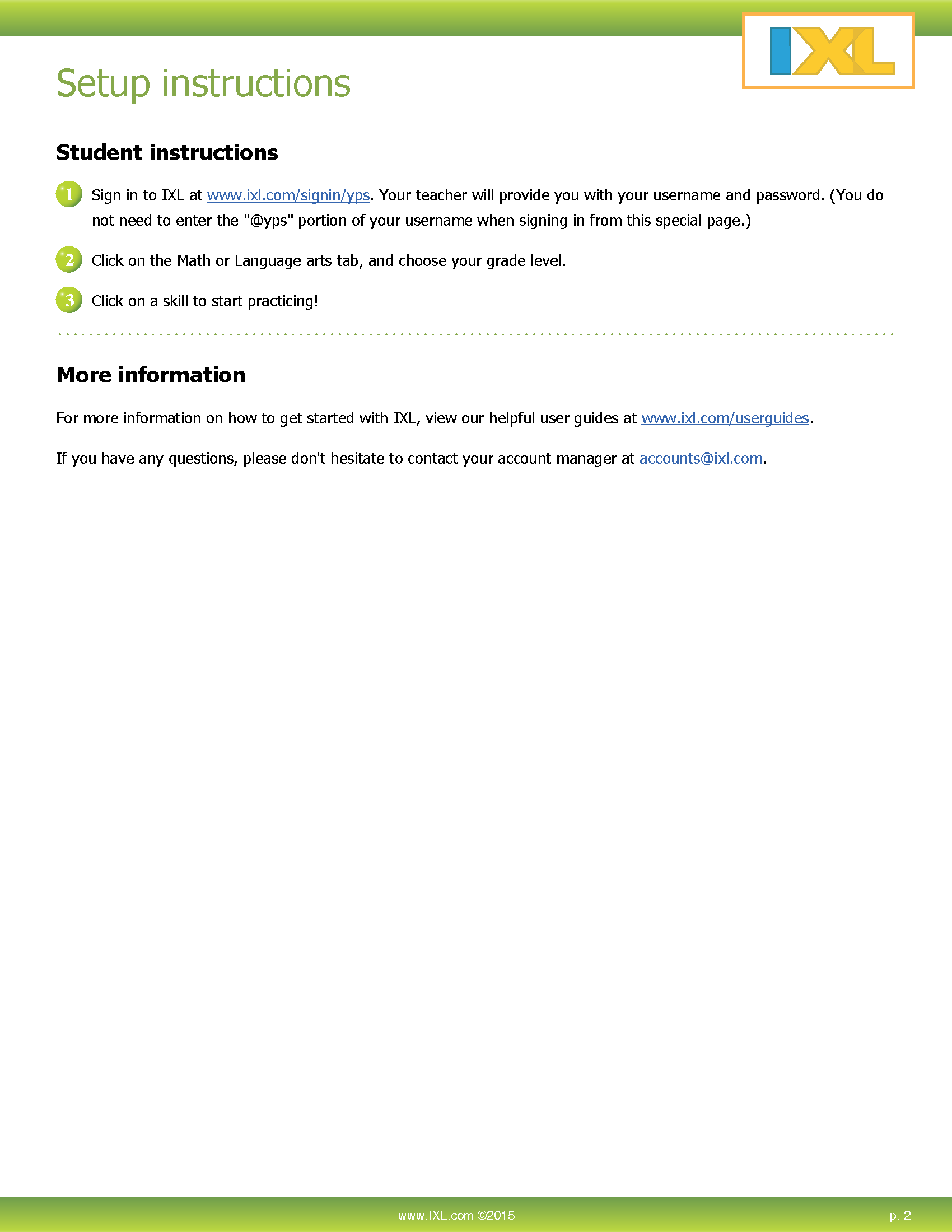 iXL Math - Teacher Account Activation | Yukon Public Schools Help Center