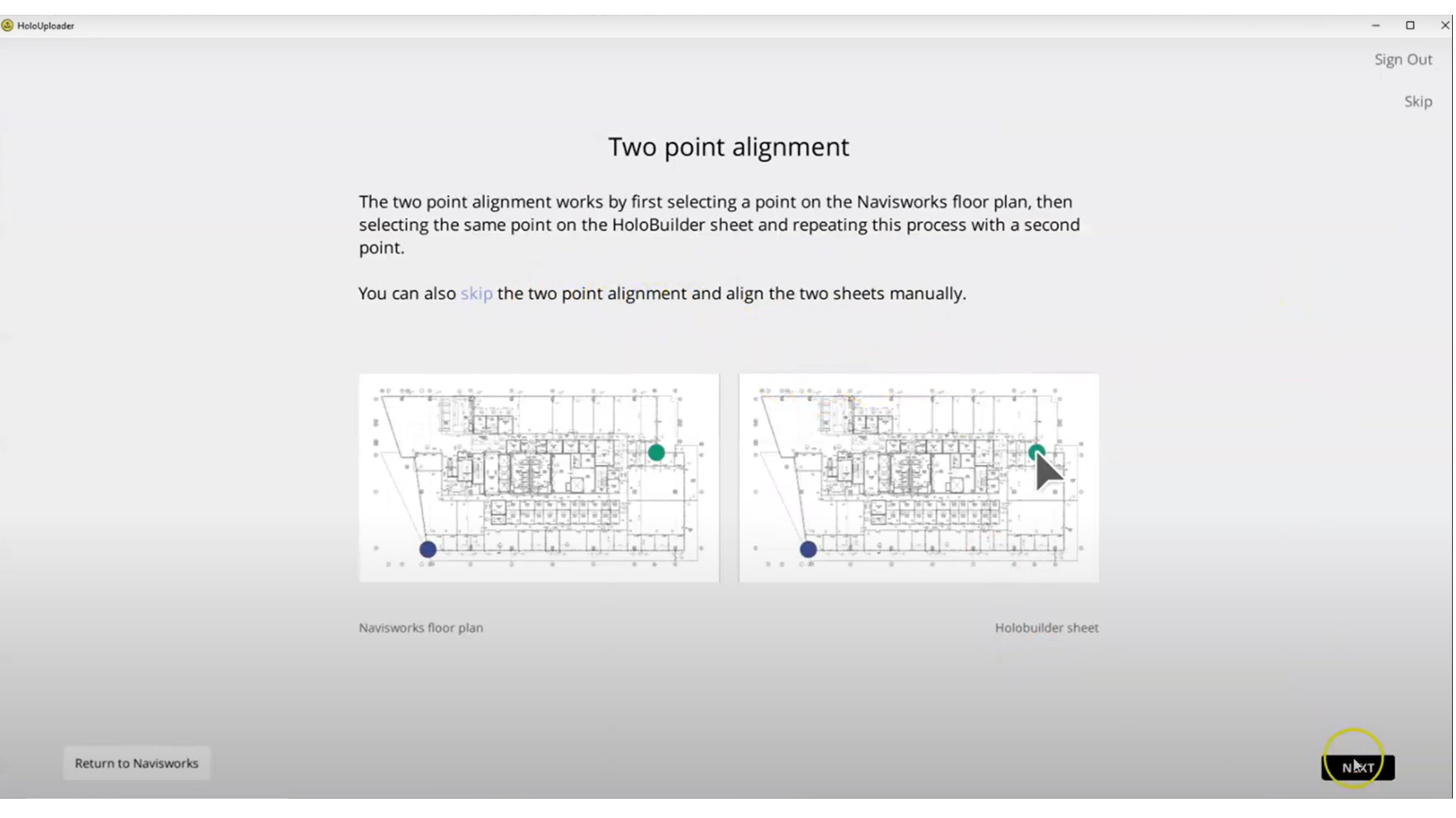 How to work with the 2-point-alignment for your sheets and sheet views