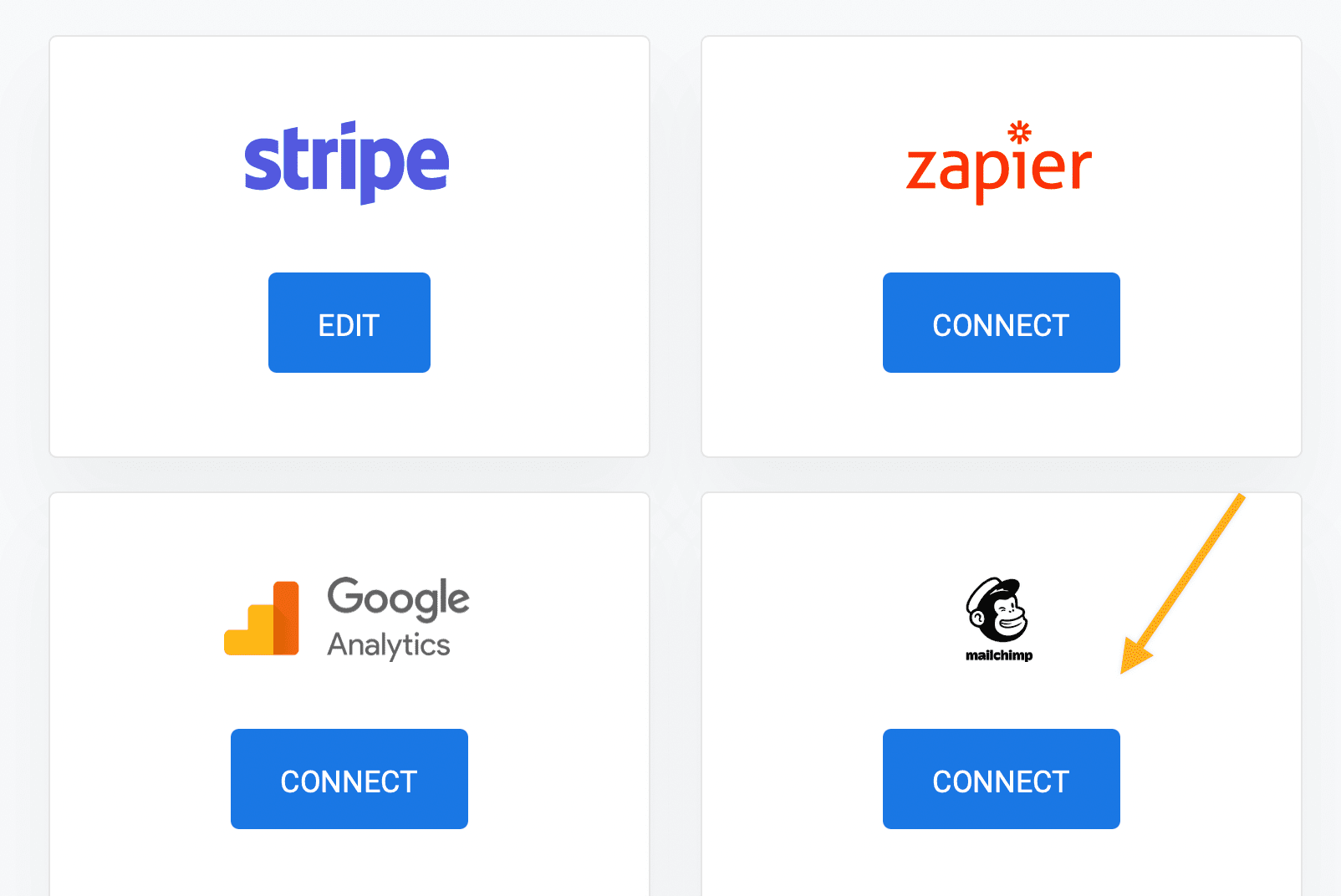 Connect Mailchimp to Stripe using ChargeKeep