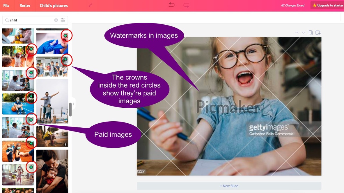 Free-and-paid-images-in-Picmaker