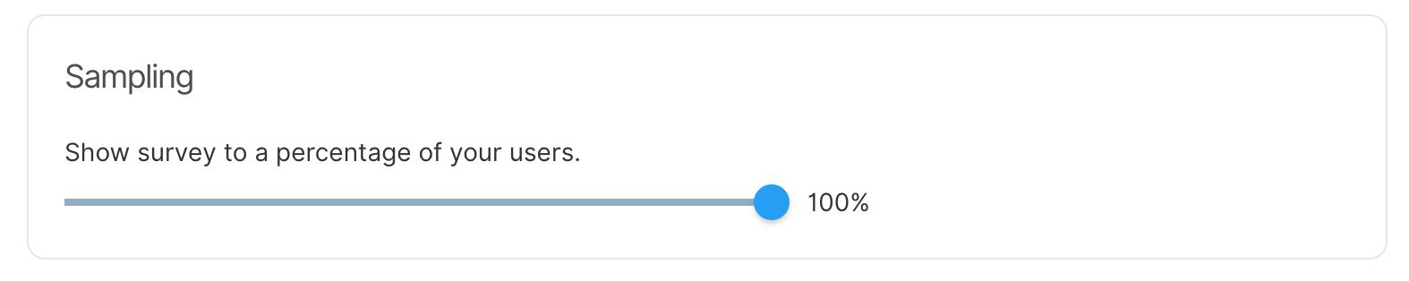 Sampling - Survey percentage of user base