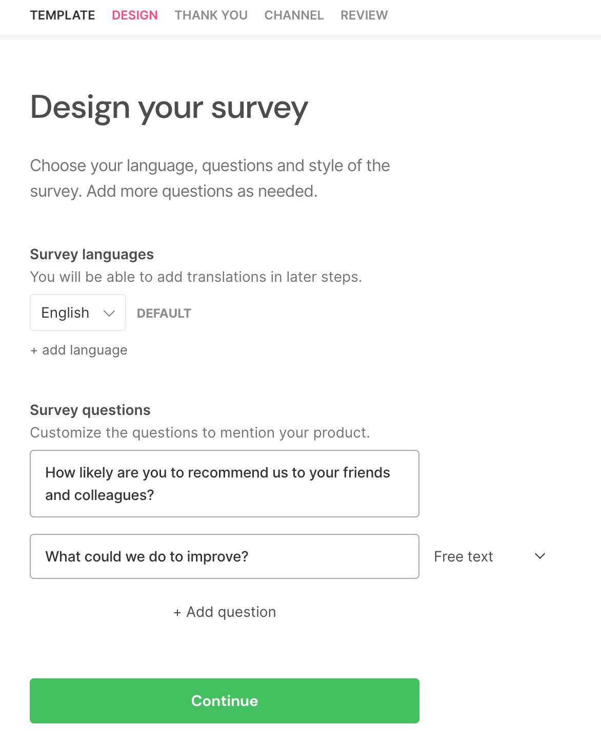 SatisMeter - Edit your customer survey questions