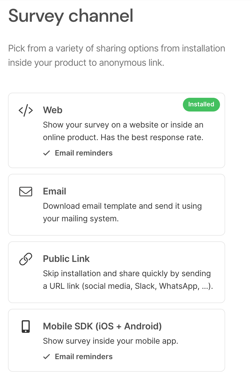 SatisMeter - Pick up your customer survey display channel