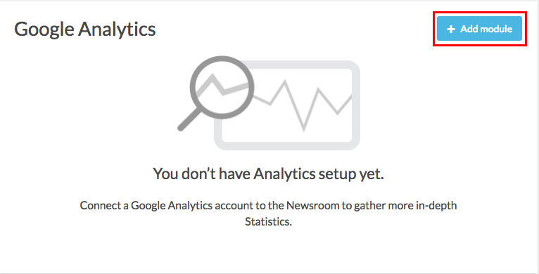 google analytics module with add button highlighted