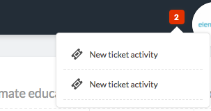 new ticket activity notification