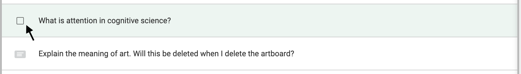 To select a recall from the RECALLS list, click the checkbox seen on mouseover.
