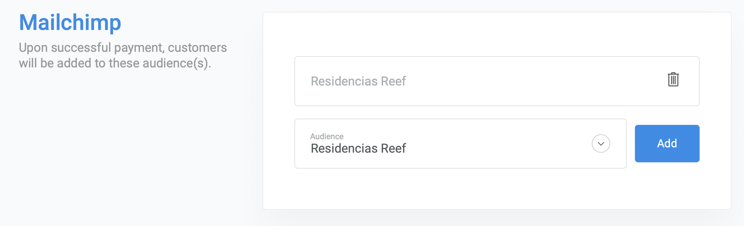 Integrating Stripe with Mailchimp and adding payers through ChargeKeep