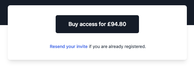 Zoomed in screenshot of the access button on the public page, with the text