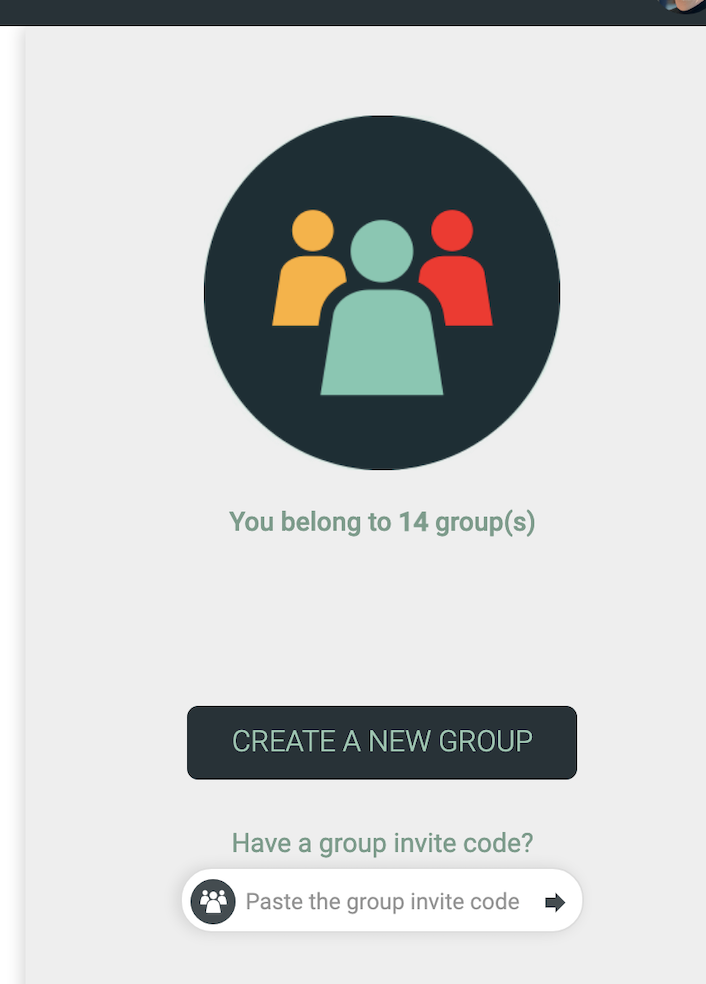 The create and join groups functions.