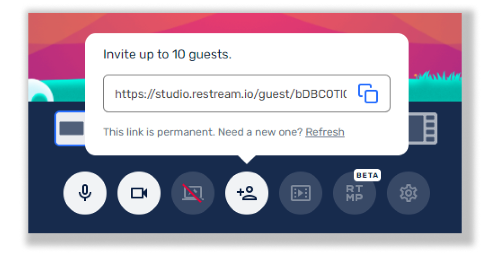 How to invite guests in Restream Studio