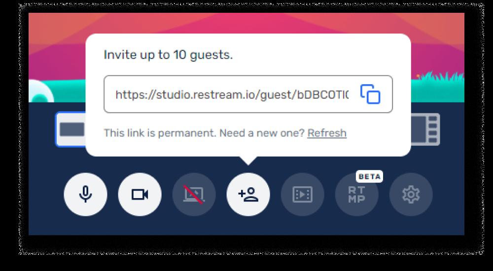 How to invite guests in Restream Studio