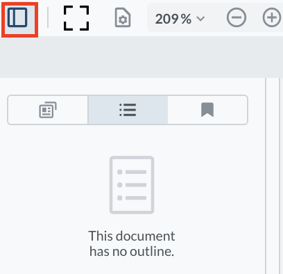 This file has no outlines.