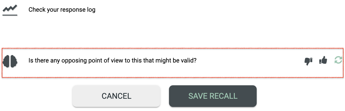 The metacognition widget seen in the recall creation and edit forms.