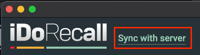 Sync with server.