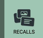 Click to enter the RECALLS section of iDoRecall