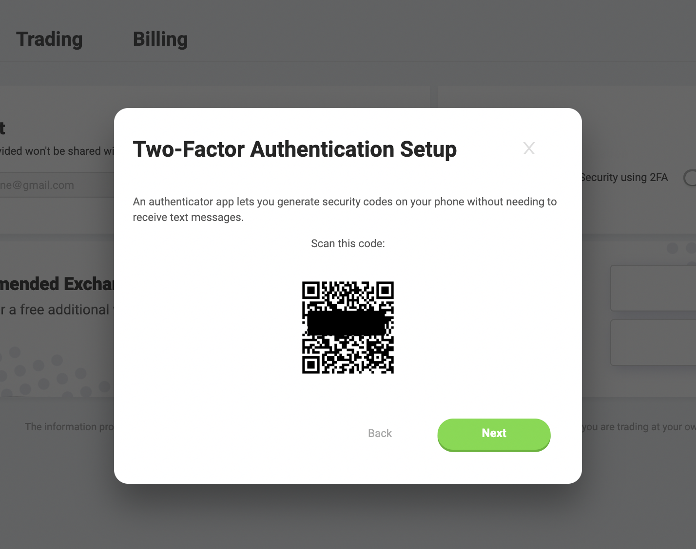 scan google authenticator code