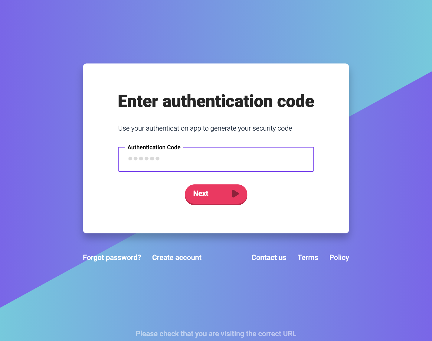 sign in with two-factor authentication