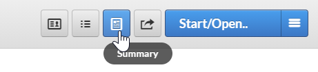 mouse over summary button at top of the patient chart