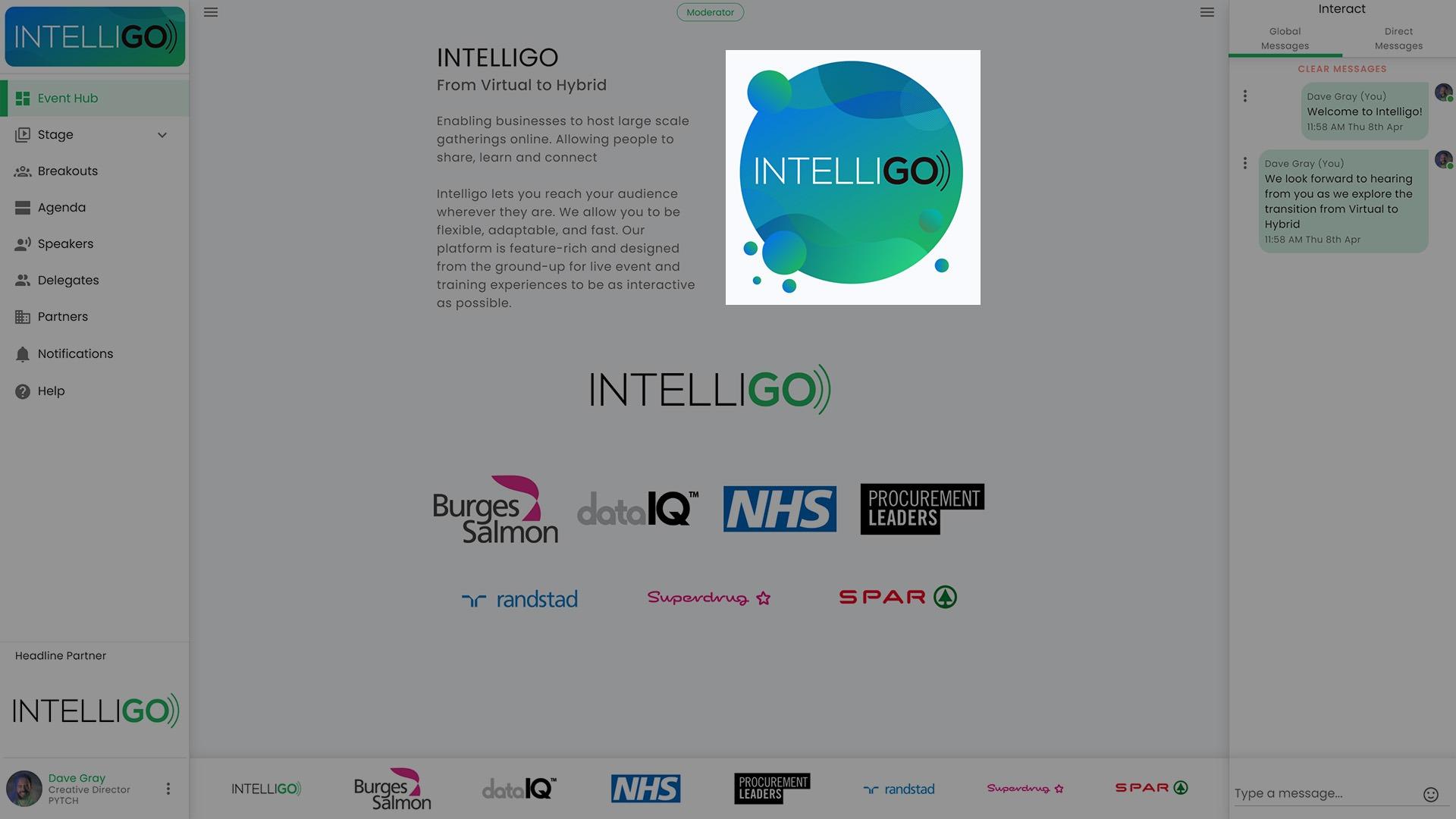 virutal hybrid event platform intelligo event hub
