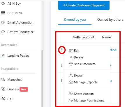 Customer Segments SOP - Manage Permissions