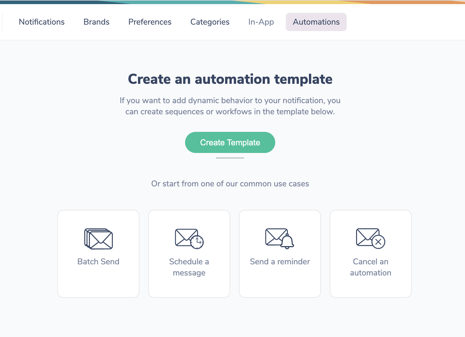 Build a Notification Automation Template