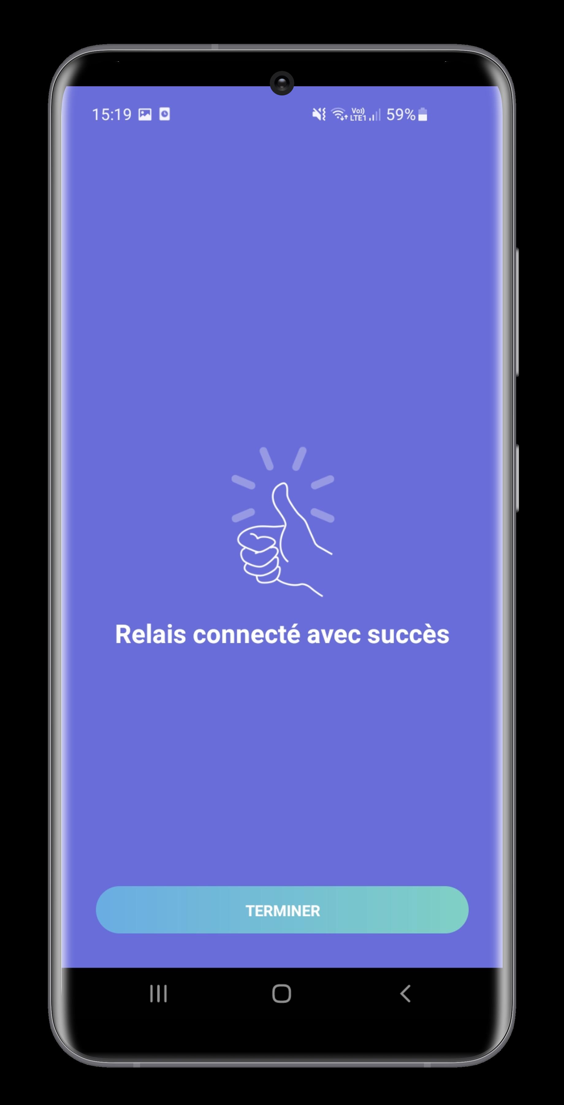 WiFi gateway configuration in iopool app screen 5