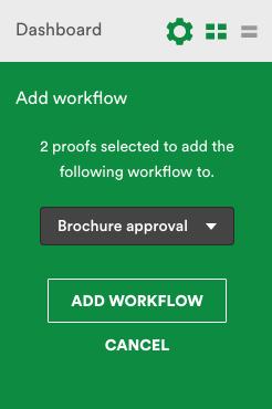 Manage menu. Add workflow.