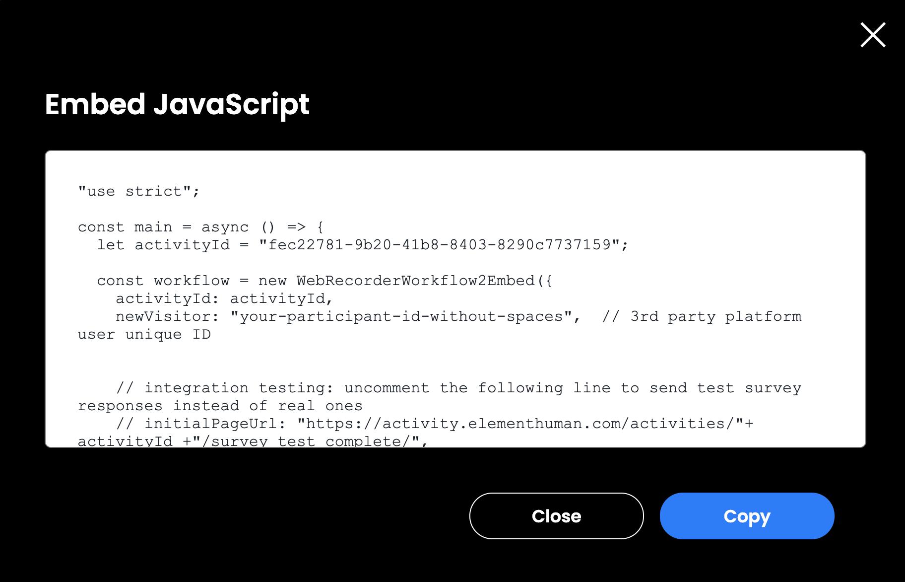 HX Embed - javascript option