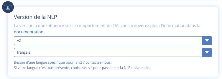 AI NLP français english