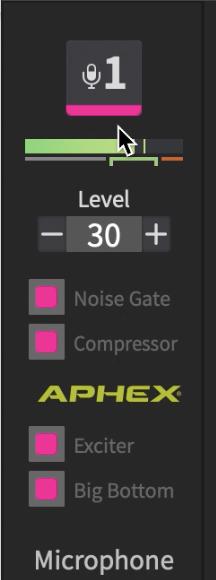 Adjusting channel settings.