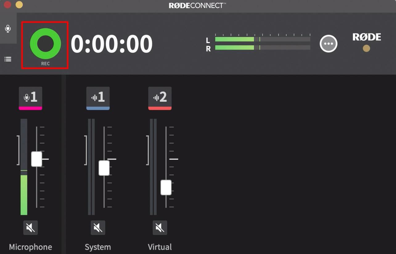 Start recording audio.