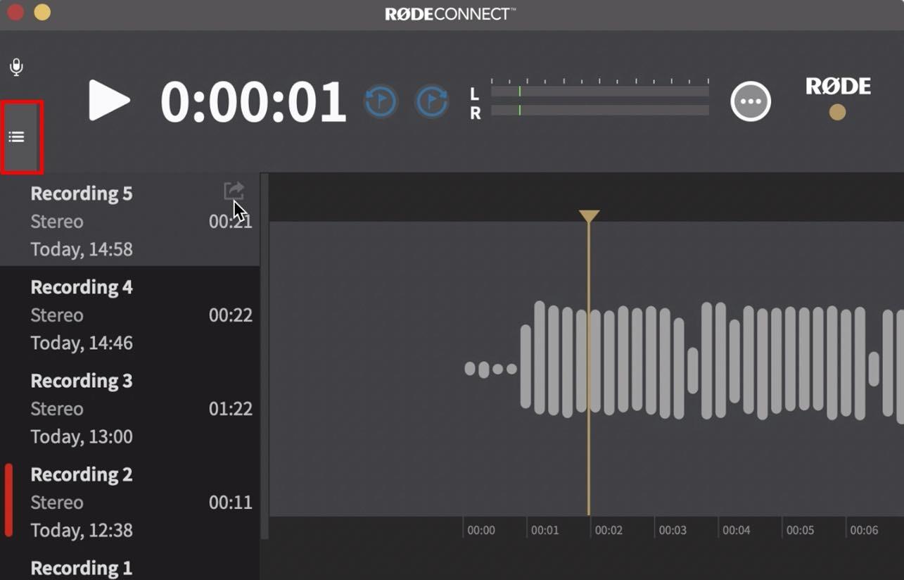Recorded audio management.