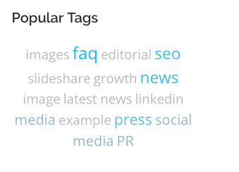 example of tag cloud module