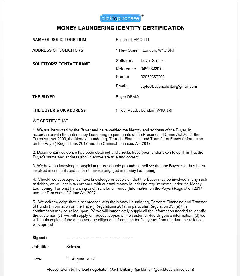 The New Uk Money Laundering And Verification Process