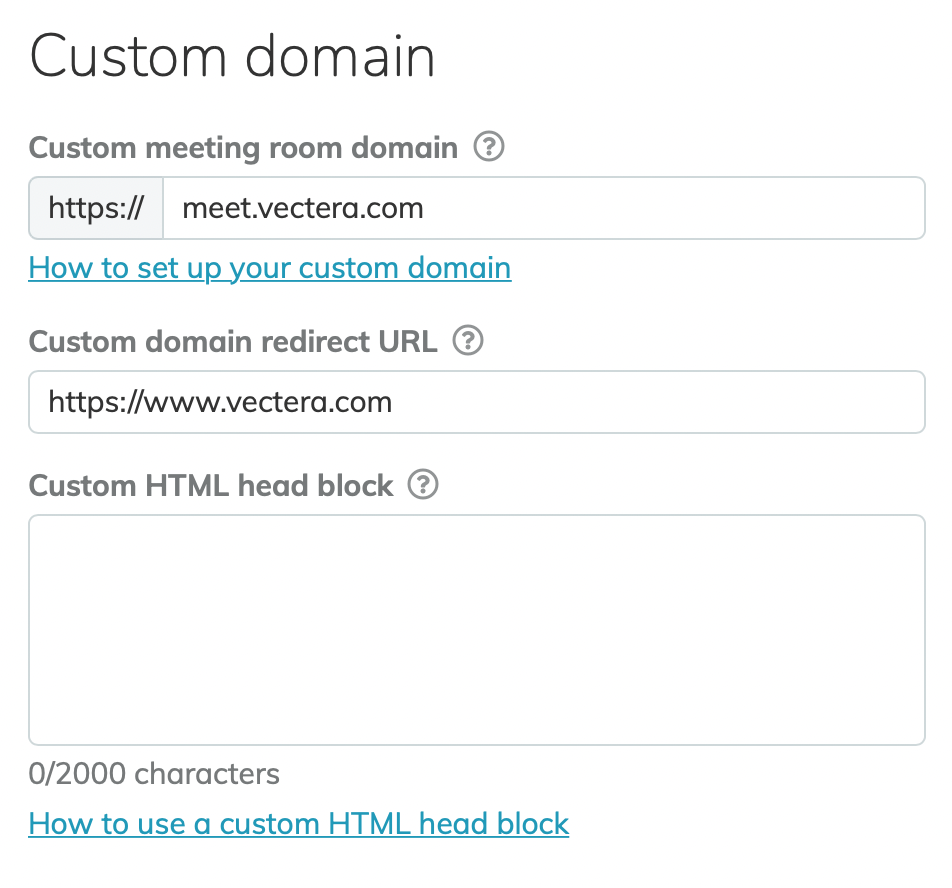 Add custom styling directly in the Custom HTML head block or use external stylesheets