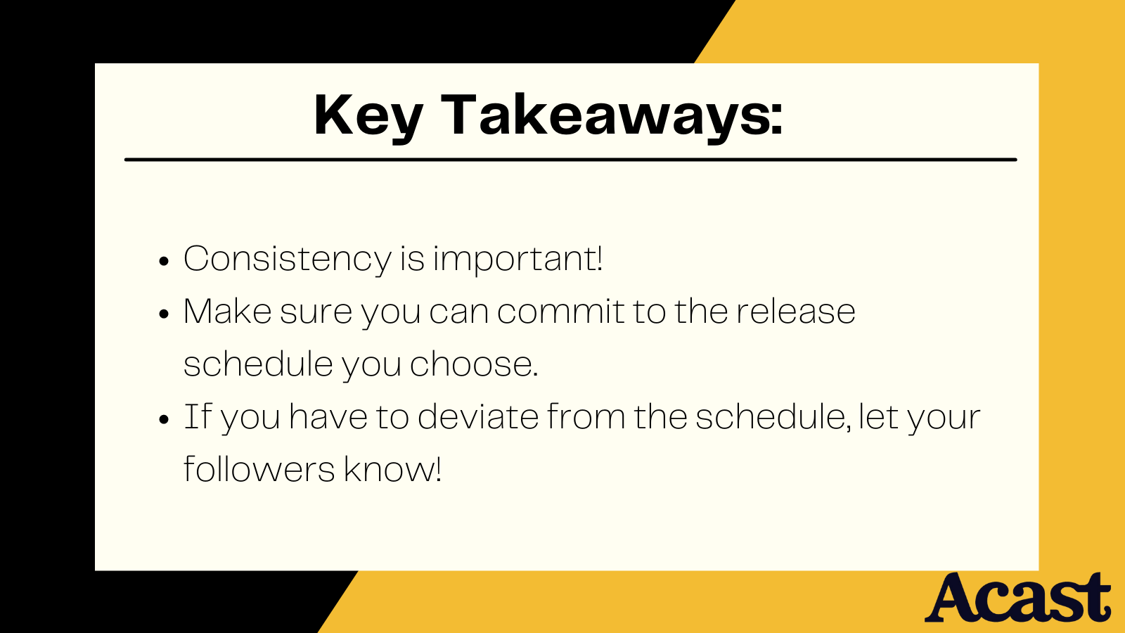 3 key takeaways for scheduling your podcast episode