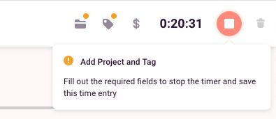 Required fields error message